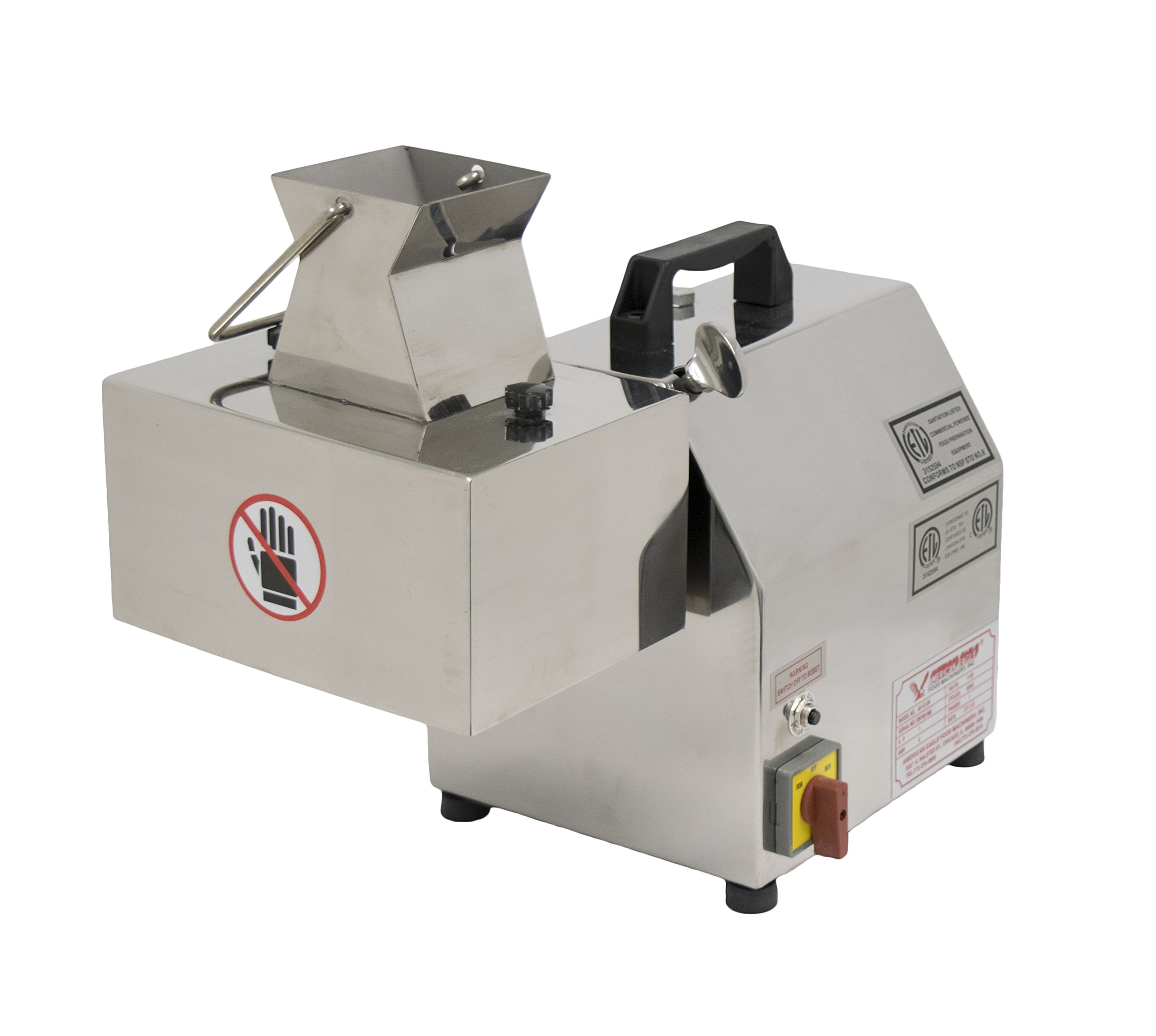 American Eagle Food Machinery AE-MC12N-1/4-K 1 hp Electric Meat Cutter Kit 1/4'' Output Stainless Steel