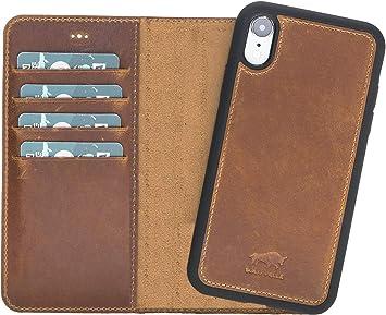 Solo Pelle Lederhülle Harvard Kompatibel Für Das Apple Iphone Xr Inklusive Abnehmbare Hülle Mit Integrierten Kartenfächern Camel Braun Koffer Rucksäcke Taschen