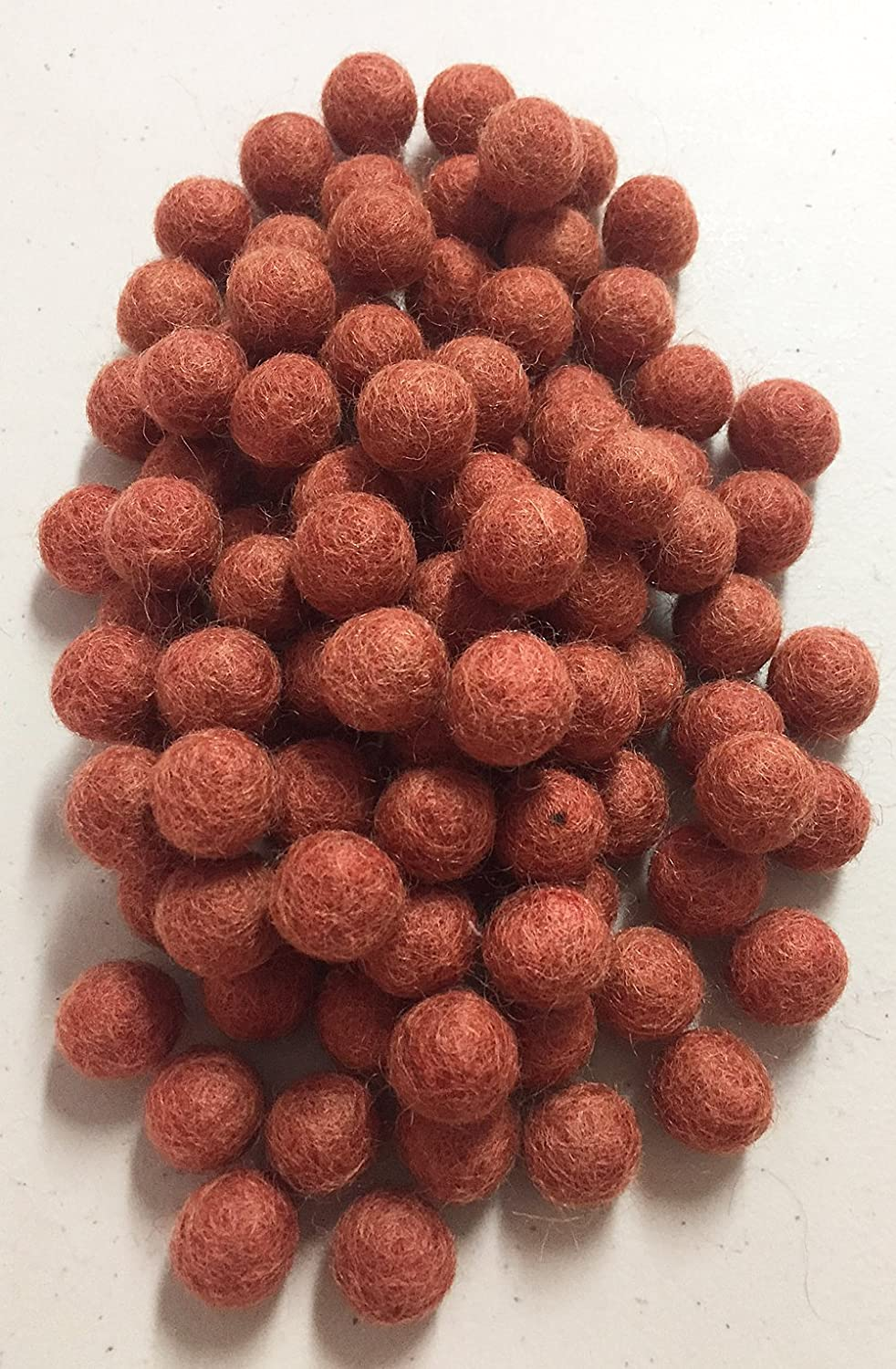 Yarn Place Felt Balls - 100 Pure Wool Beads 20mm 1 Color (Grey Mix)