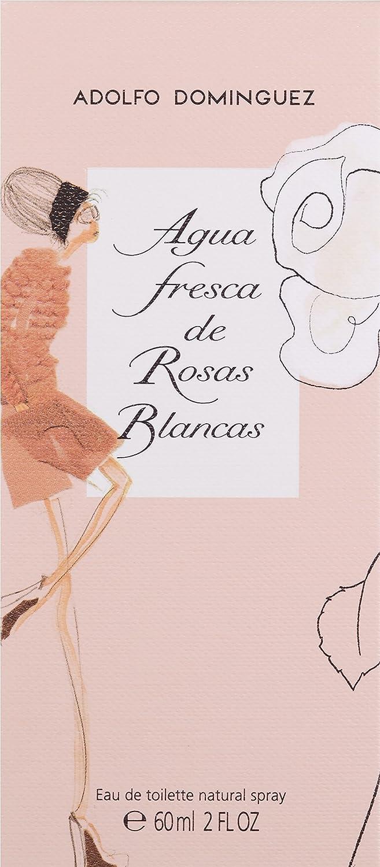 Adolfo Dominguez Agua Fresca de Rosas Blancas - Agua De Tocador Vaporizador, 60 ml: Amazon.es: Belleza