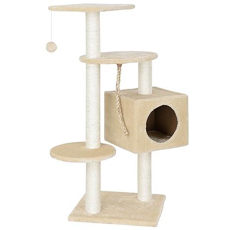 [en.casa] Rascador Para Gatos Árbol Para Gatos Trepar Sisal Juguetes - 40x40x113cm