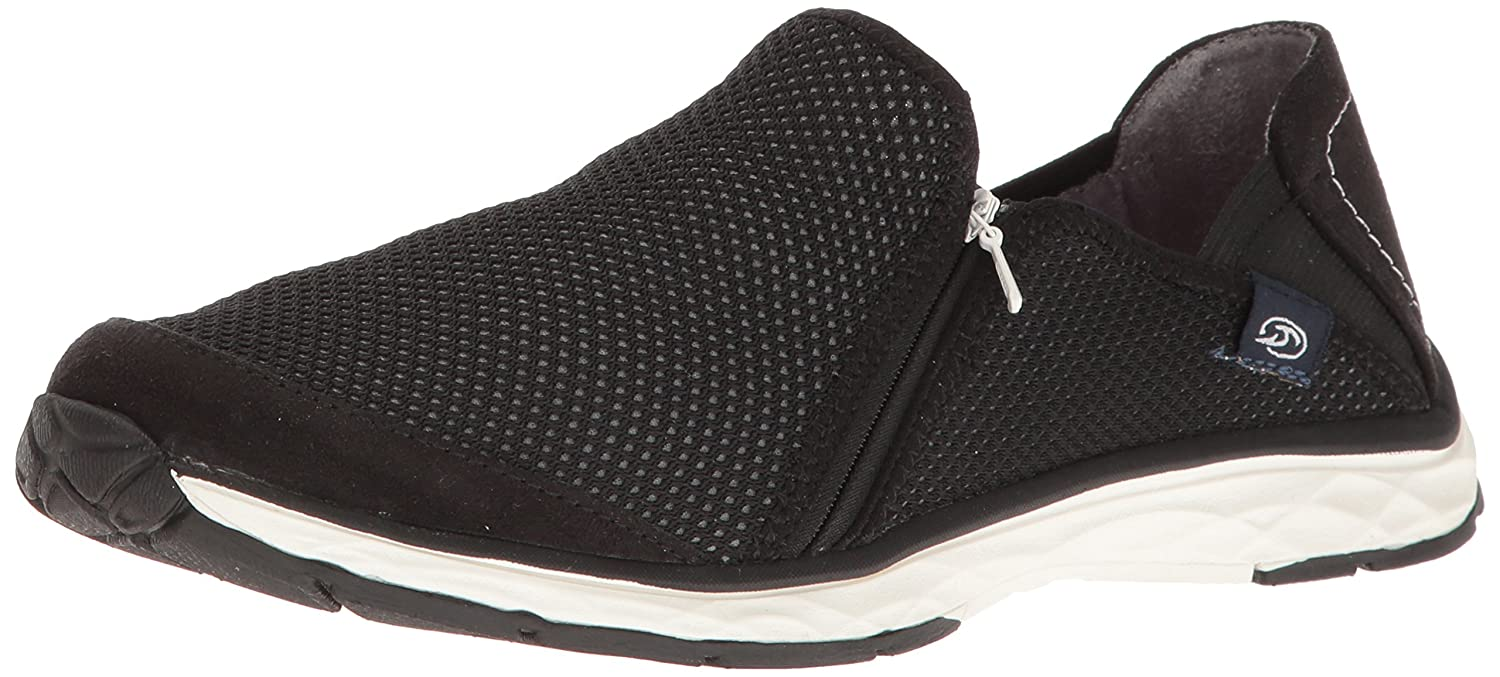 Dr. Scholl's Women's Anna Zip Fashion Sneaker B01KG9UL62 6.5 M US|Black Luna Knit