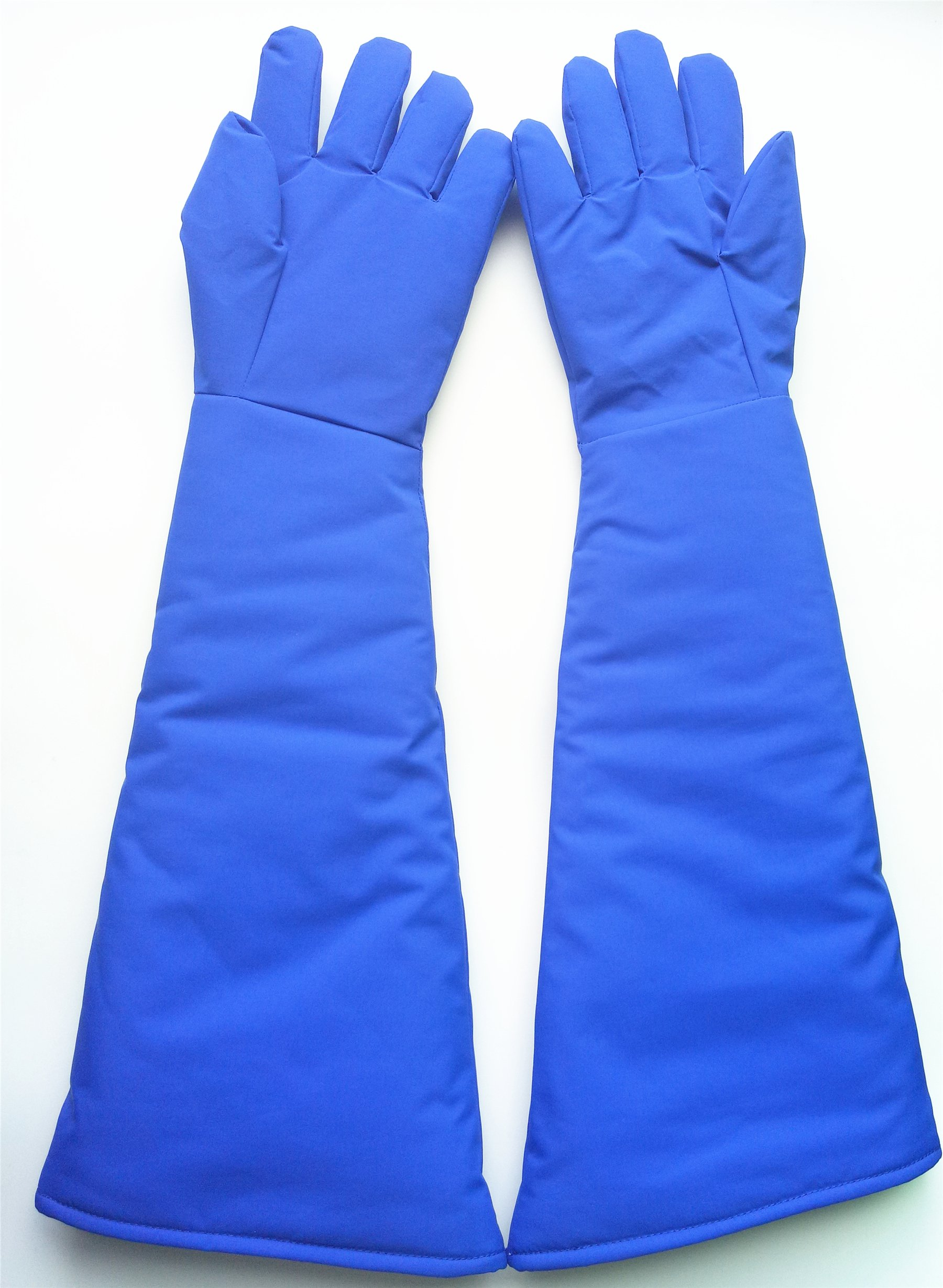 Inf-way 4 Sizes Long Cryogenic Gloves Waterproof Low Temperature Resistant LN2 Liquid Nitrogen Protective Gloves Cold Storage Safety Frozen Gloves (Blue Large) by Inf-way (Image #4)
