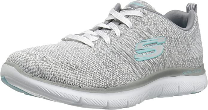 Skechers Flex Appeal 2.0 High Energy Sneakers Damen Grau