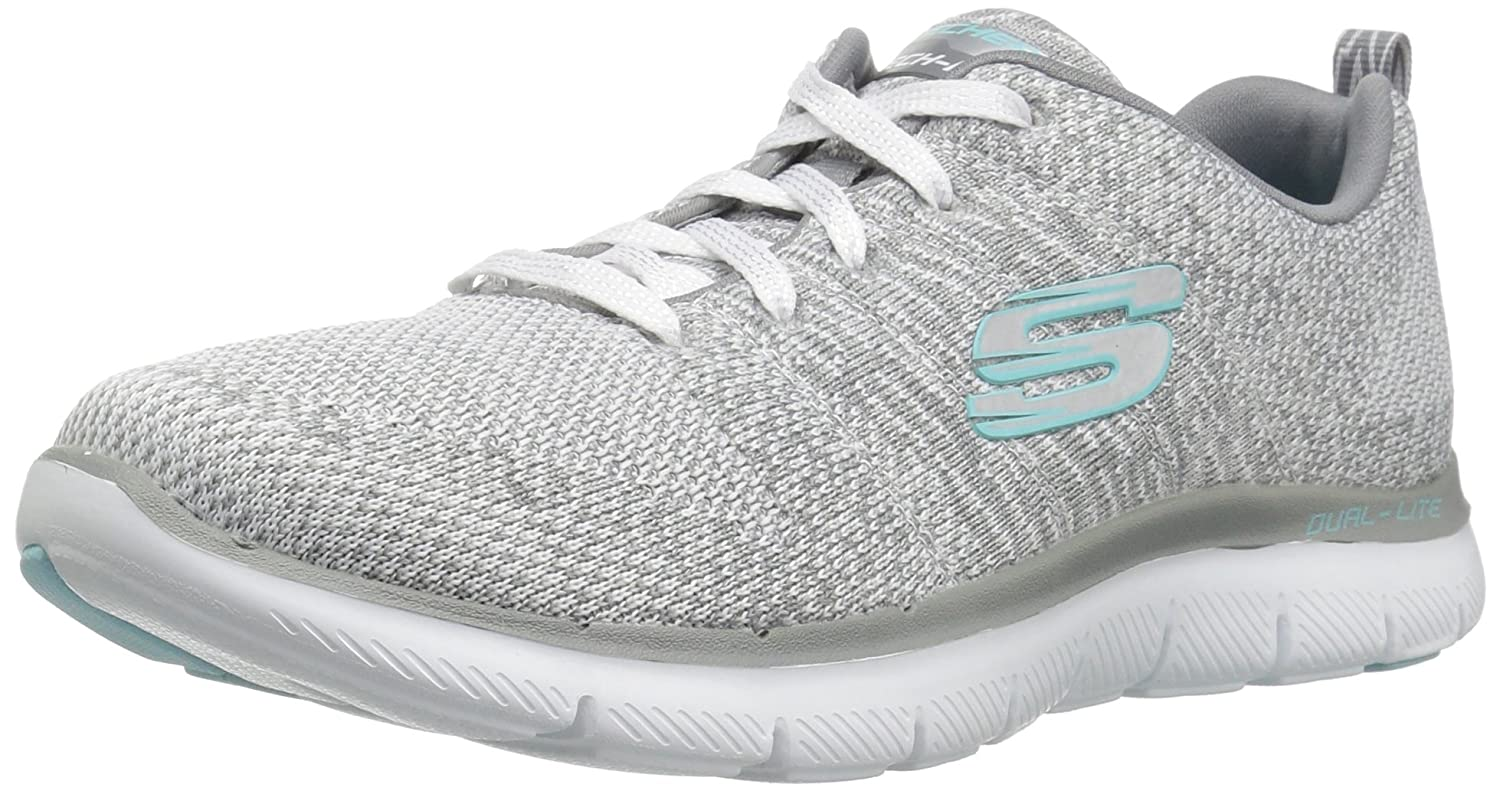 Skechers Flex Appeal 2.0-High Energy, Zapatillas para Mujer 36 EU|Blanco (White/Grey)