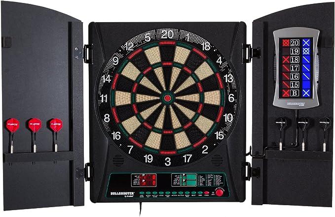 Bullshooter Cricket Maxx 1.0 Electronic Dartboard Cabinet Set - Best Electronic Dartboard Cabinet