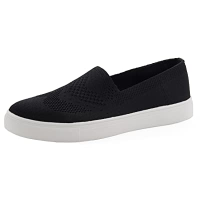 Cambridge Select Women's Slip-On Closed Round Toe Lightweight Breathable Mesh Stretch Fashion Sneaker | Shoes