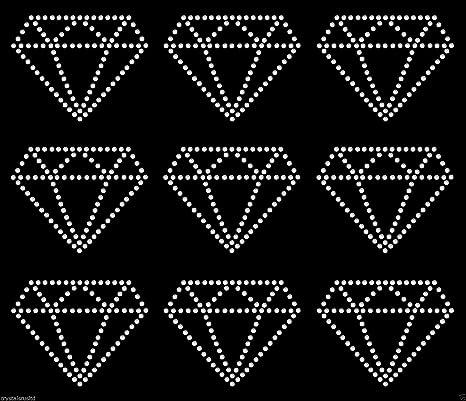 Sheet of 4 Wedding rings iron on rhinestone transfer