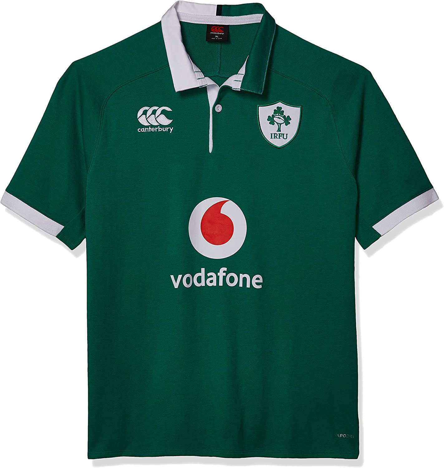 Canterbury Official 19/20 Ireland Rugby Men's Vapodri Home Short Sleeved Classic Jersey