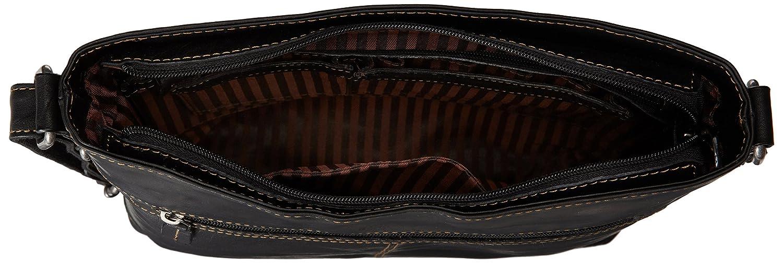 Jack Georges Mens Voyager Crossbody Bag in Brown