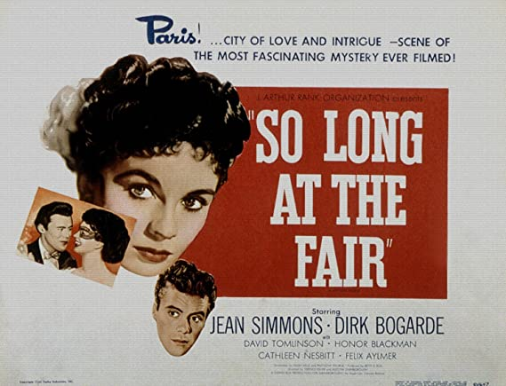 ODSAN So Long at the Fair, Jean Simmons, Dirk Bogarde, David ...