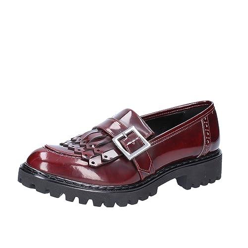 OLGA RUBINI - Mocasines de Piel para Mujer Violeta Size: 36: Amazon.es: Zapatos y complementos