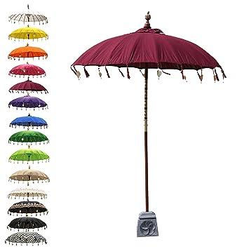 Asiatische Sonnenschirme , Oriental Galerie Balinesischer Sonnenschirm Garten Schirm