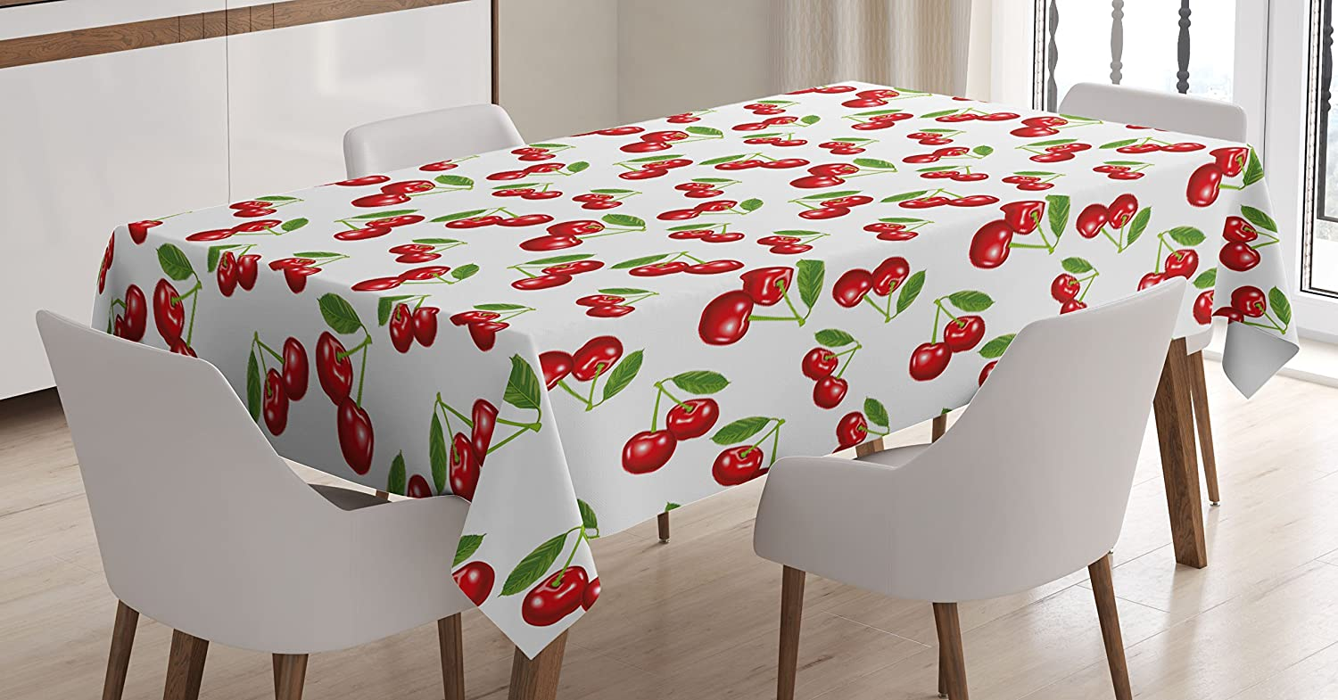 Kitchen Tablecloth Cherry Pattern Design