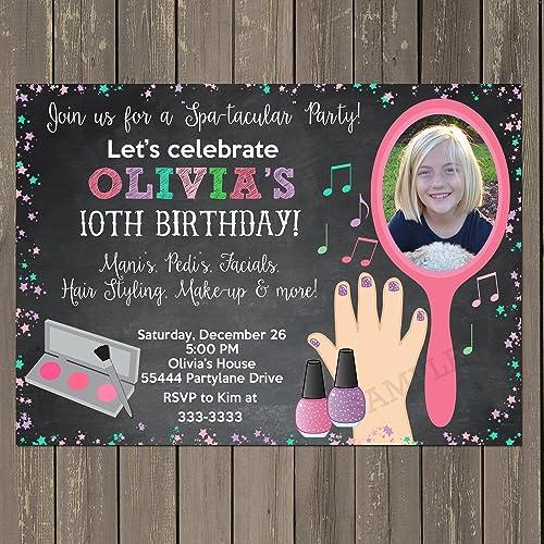 Amazon Com Spa Party Invitation Makeup Party Invitation Girls