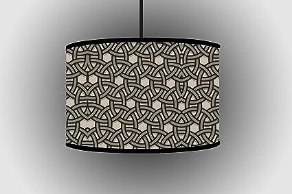 30 cm gris de círculos para lámpara de pie pantalla para ...