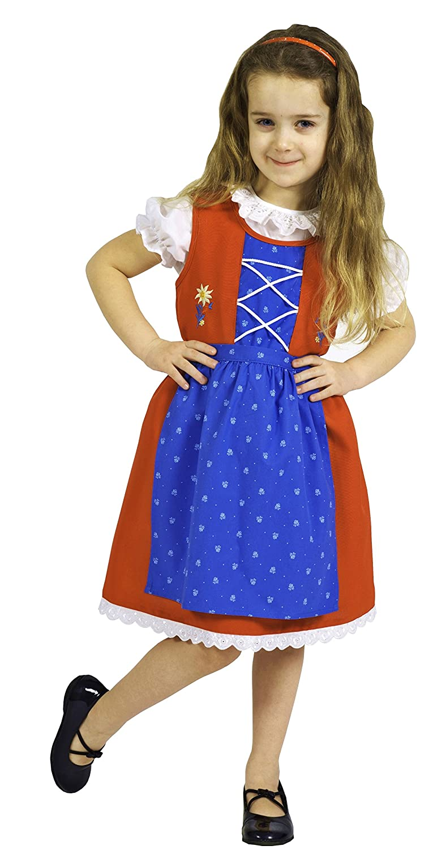 Niño Dirndl con delantal rojo/azul Niños tirolesa Traje ...