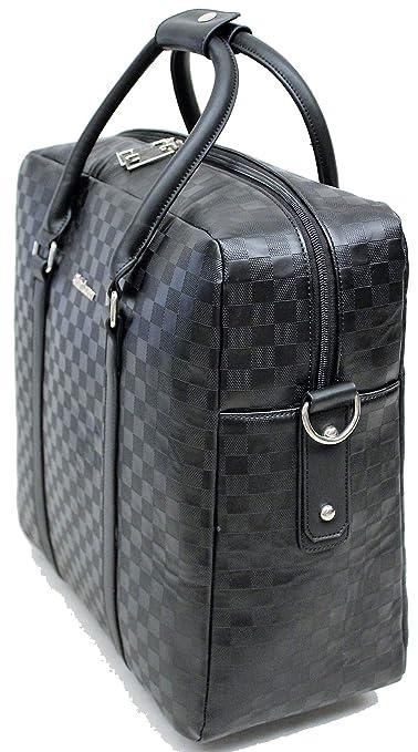 c5ba6d9107356 Damen Aktentasche auf Räder Business Umhänge Trolley Schwarz Karo Bowatex   Amazon.de  Koffer