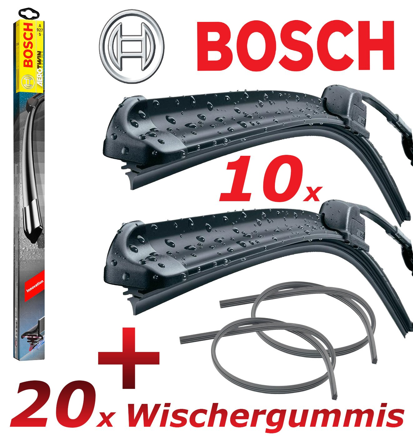 10 x Bosch Aerotwin a640s 3397007640 Limpiaparabrisas 725/725 + 20 ...
