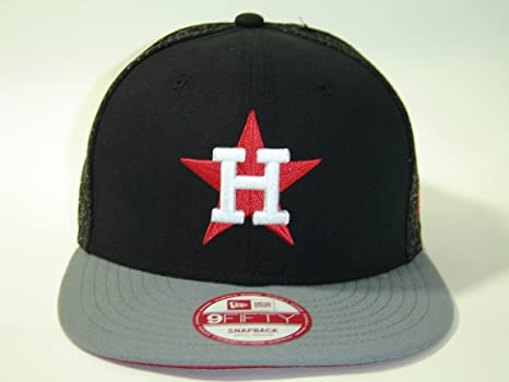 a40bf4a9d43 Image Unavailable. Image not available for. Color  New Era MLB Houston  Astro Black 2Tone Snapback Cap 9fifty NewEra