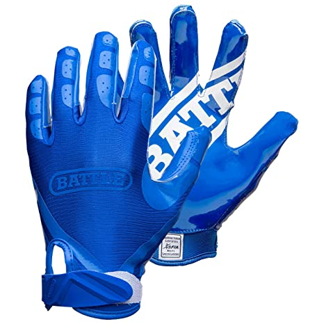 Amazon.com   Battle Double Threat Adult Football Gloves   Sports ... 3bfae6b2c4