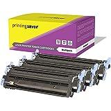 Printing Saver Q6001A Q6002A Q6003A 124A CIAN (1) MAGENTA (1) AMARILLO (1) Cartuchos de Tóner para HP Laserjet 1600, 1600n, 2600, 2600n, 2600dn, 2600nse, 2605, 2605d, 2605dn, 2605dtn, CM1015, CM1017