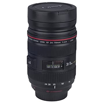 Buy Camera Lens Cup Coffee Mug EOS Mm Stainless ZOOM Flower - Nikon coffee cup lens
