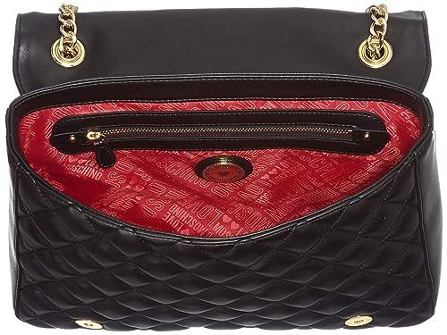 Love Moschino - Borsa Quilted Nappa Pu, Bolsos maletín Mujer, Negro (Nero), 8x20x29 cm (B x H T): Amazon.es: Zapatos y complementos