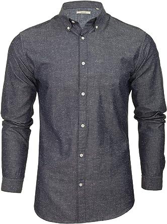 Jack & Jones JPRSCANDI - Camisa de popelina para hombre (manga larga)