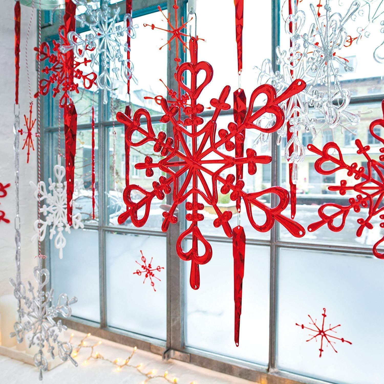 Set di 12 decorazioni natalizie set da 12 Koziol FLAKES XS