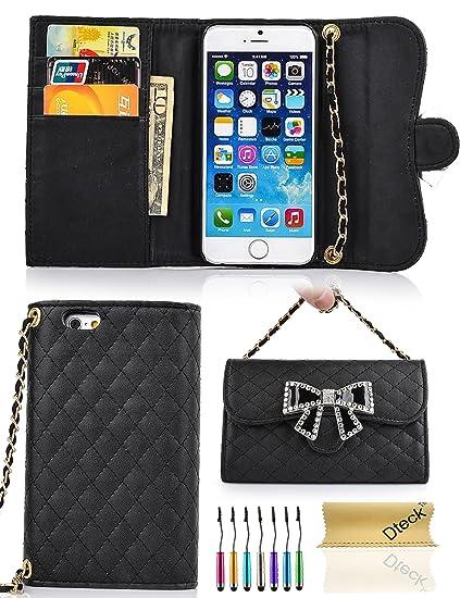 Amazon Com Iphone 6 Plus Wallet Case Dteck Tm Elegant Rhombus