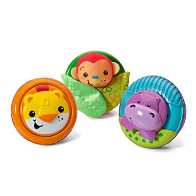 Infantino Pop & Play 3 Count Activity Pods, Jungle : Green Toys : Baby