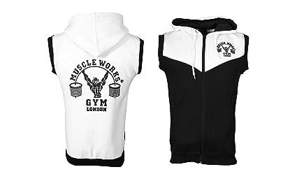 Mens Camo Gillet Hoodie Sleeveless Zip Hooded Sweatshirt Gym Sport Top Clothes