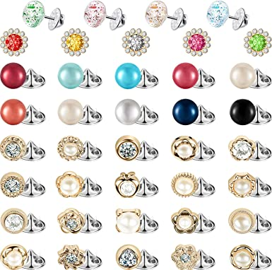 50 Pieces Women Shirt Brooch Buttons Cover up Button Pin Safety Brooch Buttons for Clothing Dress Supplies