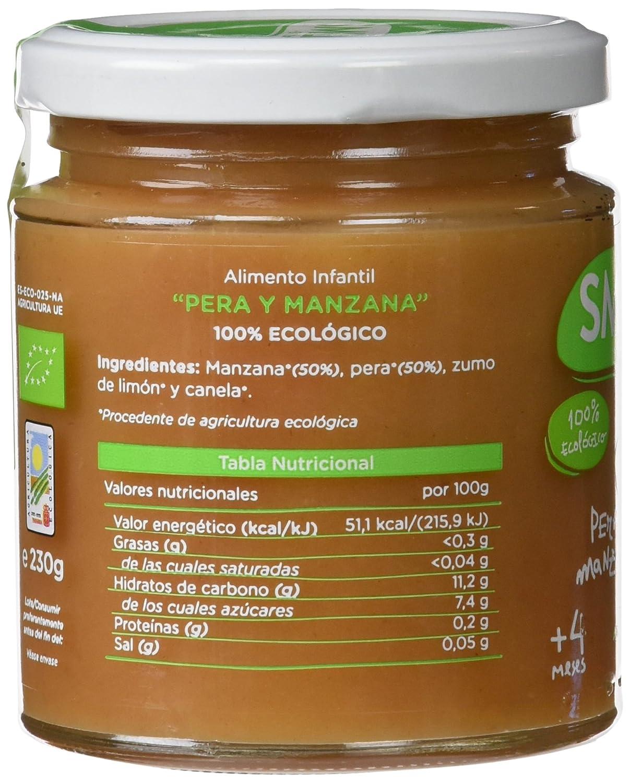 Smileat, Potito de fruta para bebé (Pera y manzana) - 230 gr.: Amazon.es: Alimentación y bebidas