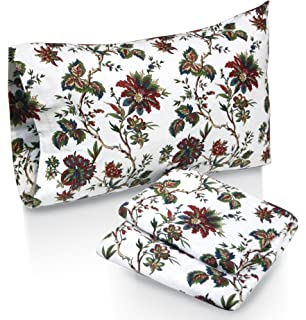 tribeca living rainforest printed deep pocket flannel sheet set with pillowcase california king