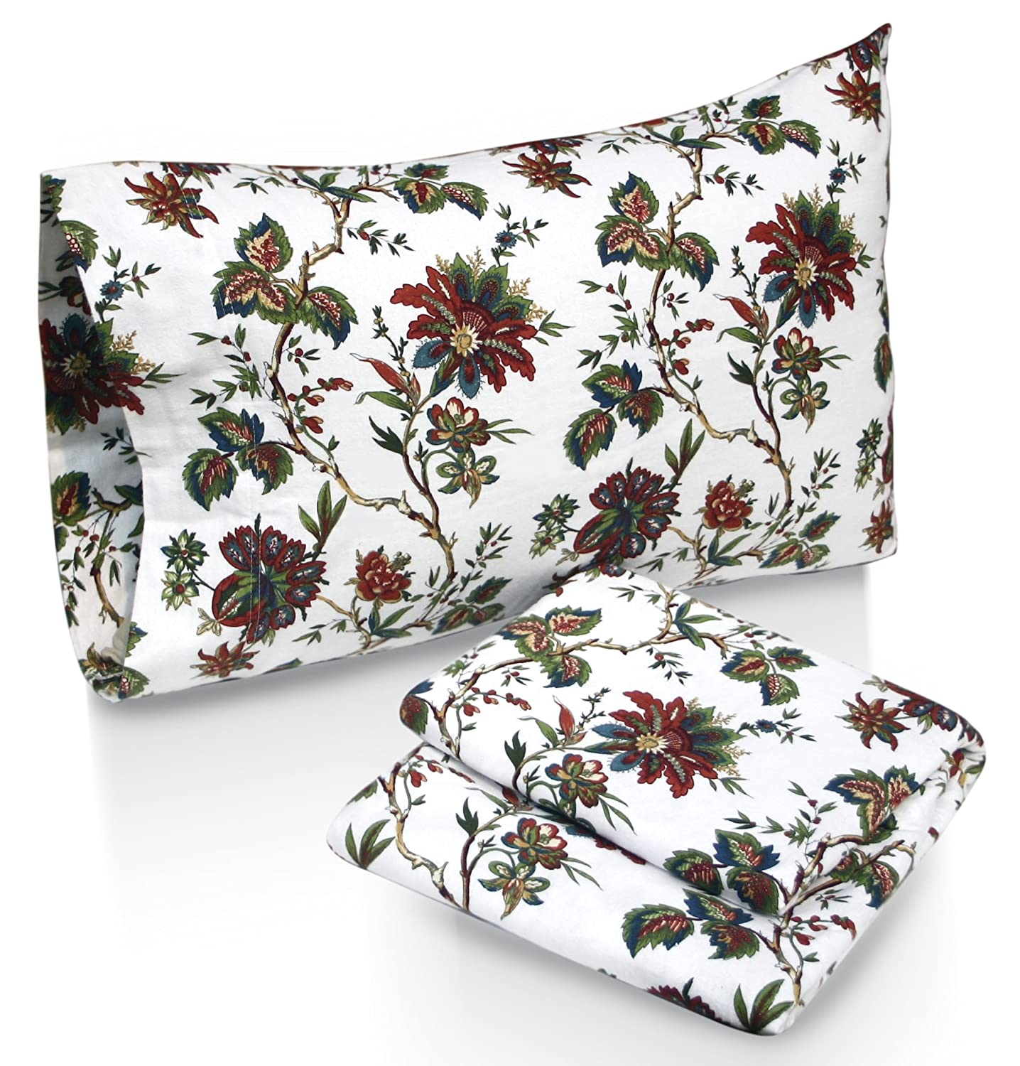 Flannel Sheet Set with Pillowcase, California King