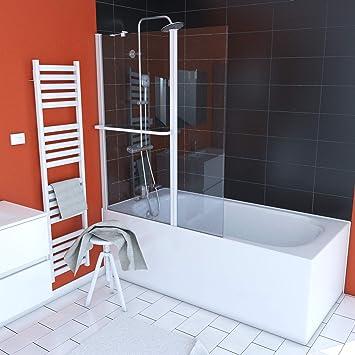 Aurlane FAC278 - Mampara para bañera, color blanco: Amazon.es ...