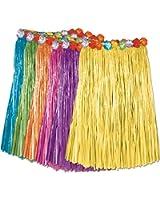 Amazon.com: Hawaiian Hula Grass Skirt Set Child Size Natural: Clothing