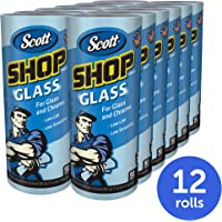 12-Pack Scott 32896 Glass Cleaning Shop Towels, Low Tint, Low Streaking, 90 Sheets