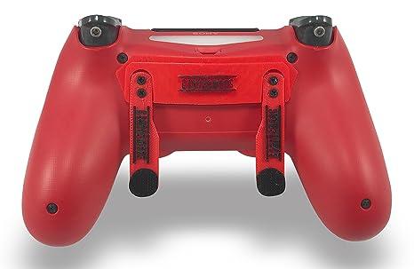 PS4 Elite Magma Rot Custom Controller mit Paddel, Trigger Stops. Professional Level graduiert Equipment. Turnier Zugelassen u