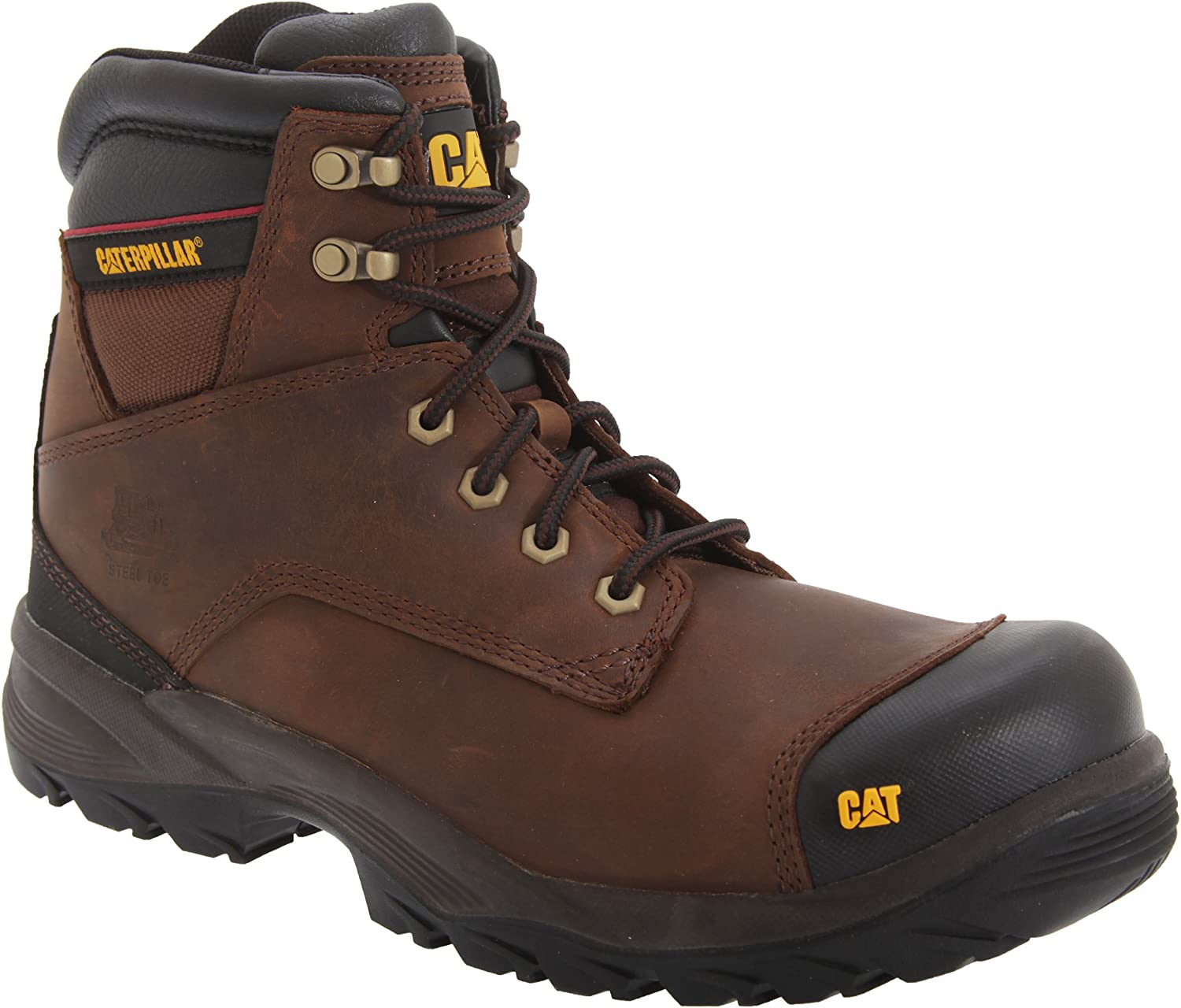 TALLA 40 EU. CAT Workwear Mens SPIRO Water Resistant Leather S3 Steel Safety Boots