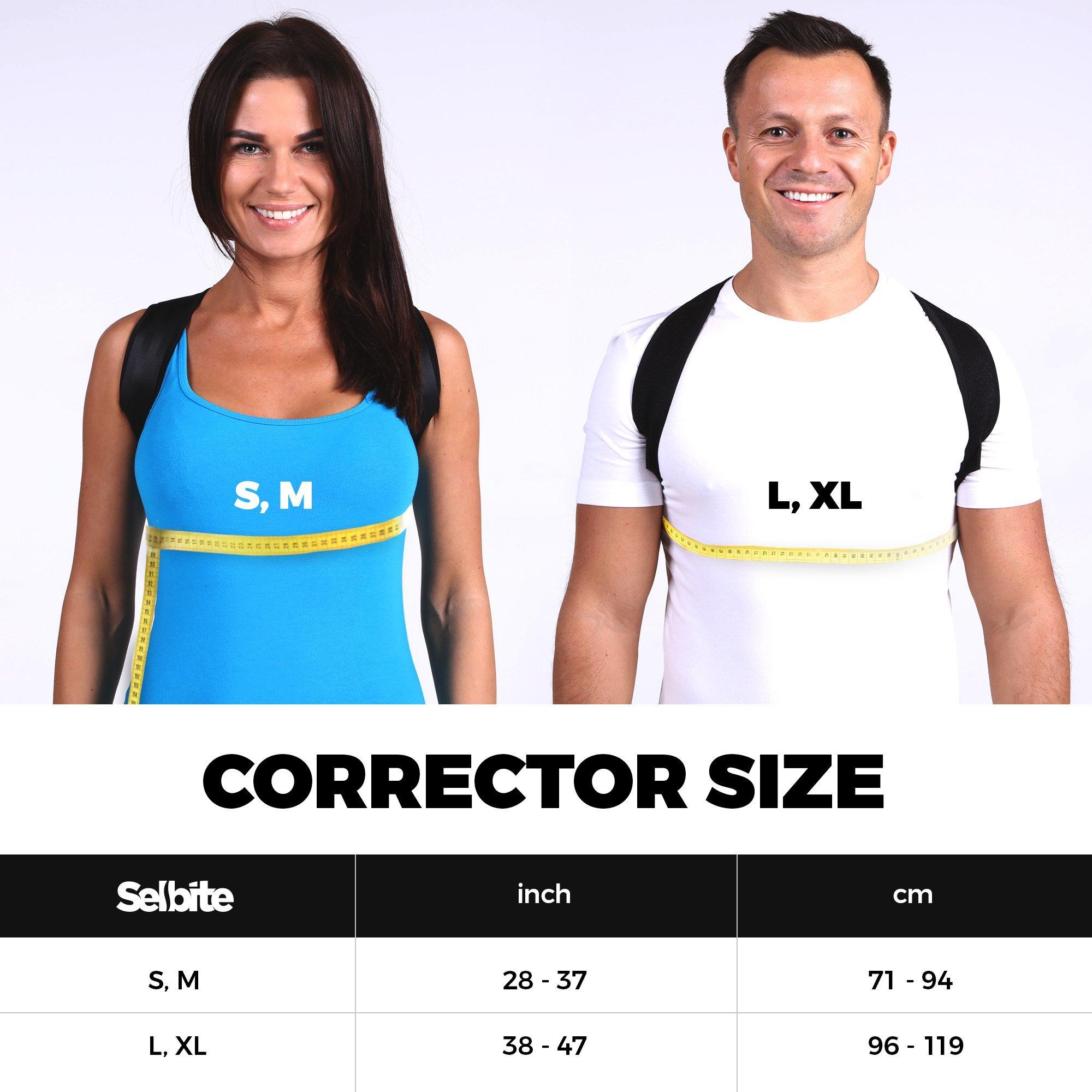 Back Posture Corrector for Men Women - Effective Posture Corrector Upper Back Straightener - Adjustable Posture Brace - Back Brace - Lightweight and Comfortable for Improving Posture by Selbite (Image #7)
