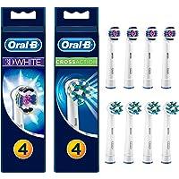 Oral-B 3D White Ve Cross Action Diş Fırçası Yedek Başlığı, 8 Adet (4 Adet 3D White Ve 4 Adet Cross Action)