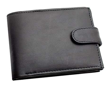 RAS Men's RFID Blocking Soft Smooth Genuine Leather Wallet With A Zipped Coin  Pocket & ID