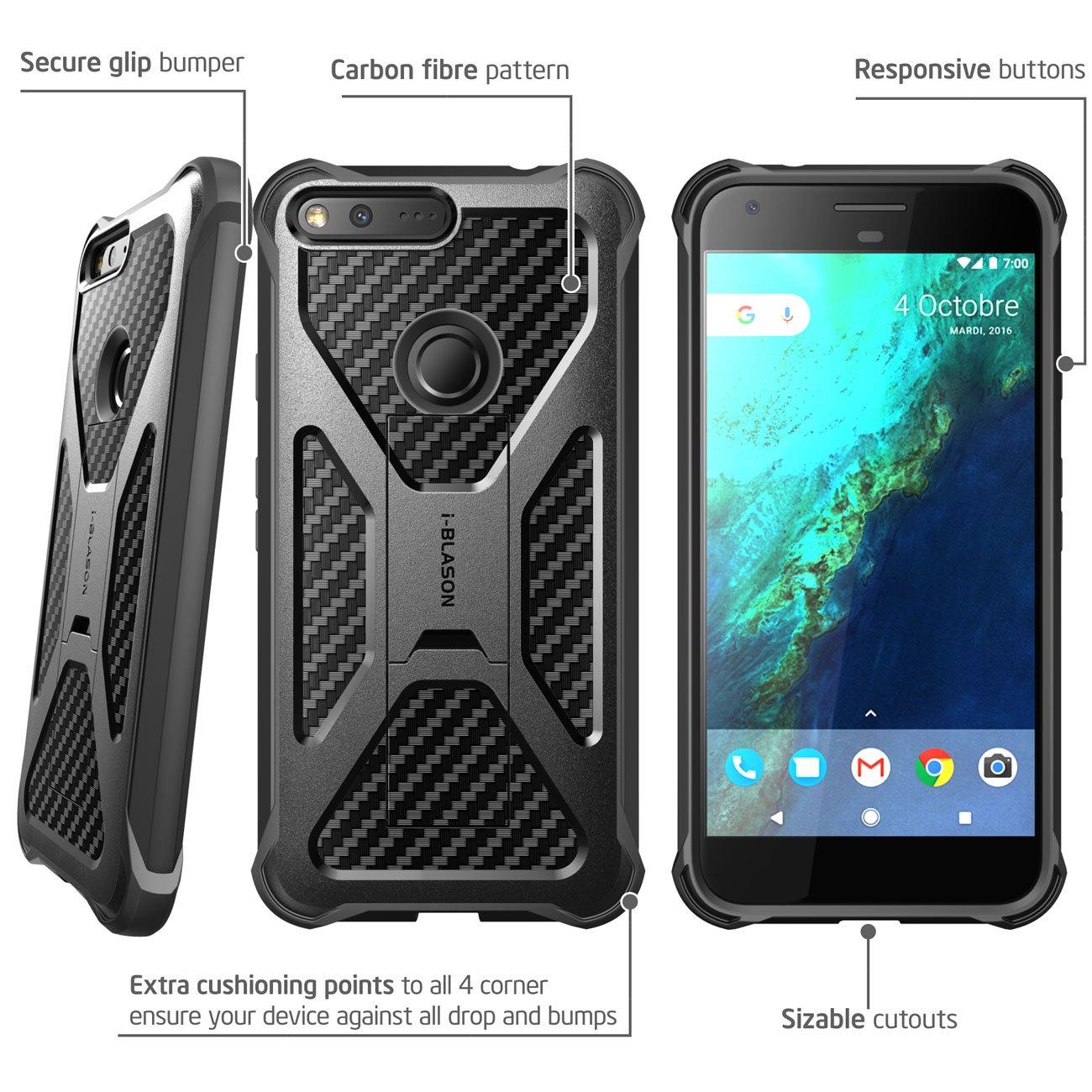 Details About Google Pixel Xl Case I Blason Transformer Locking Belt Swivel Clip W Kickstand