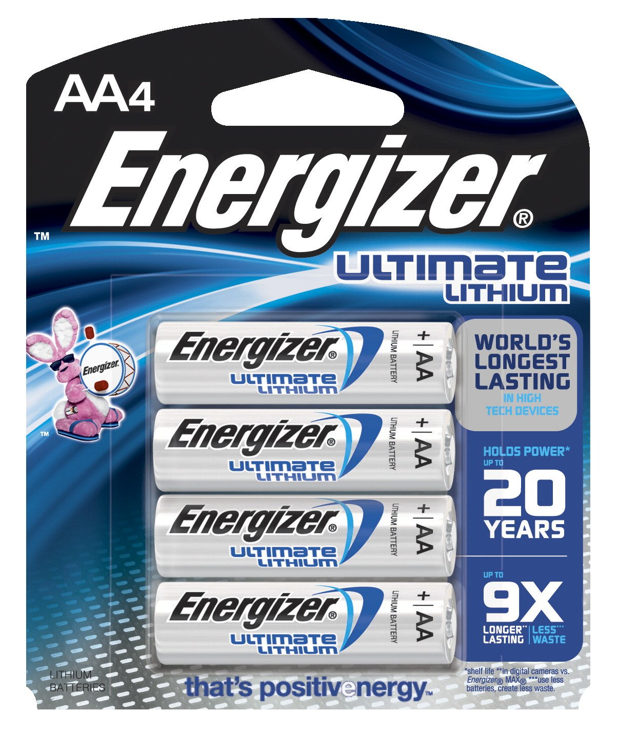 Amazon Com Energizer E2 Lithium Aa Battery 2900 Mah 1 5 V Pack Of 4 Industrial Scientific