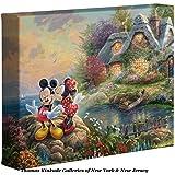 Thomas Kinkade Disney Mickey and Minnie Sweetheart Cove 8 x 10 Gallery Wrapped Canvas