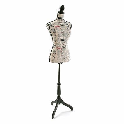 Versa 20710004 Maniqui costura, 168x37,5x24cm, Poliéster y madera, Busto