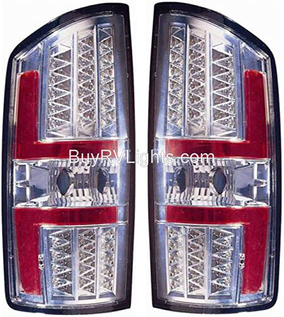 Left /& Right Chrome LED Rear Taillights Tail Lamps Lights Holiday Rambler Endeavor 2002-2011 RV Motorhome Pair